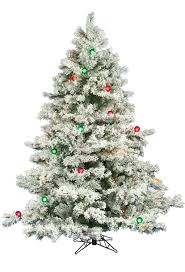 Pre Lit White Flocked Christmas Tree by 6 5 Ft Flocked Alaskan Led Multi Lit Christmas Tree Christmas