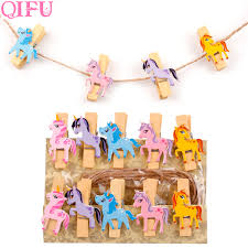 US 126 25 OFFQIFU DIY Photo Clip Unicorn Birthday Party Decorations Kids Handmade Cute Unicornio Party Supplies Wooden Gift Baby Showerin Party