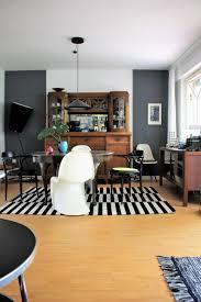 auf den tisch geblickt esszimmer wohnzimmer des