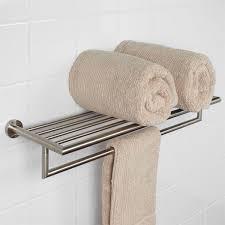 Bath Shelves With Towel Bar by Bristow Double Towel Rack Bathroom