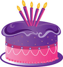 Free Birthday Cake Clip Art Image clip art illustration of a purple and pink birthday
