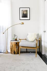 Warm Modern Reading Nook With Brass Lamp And Midcentury Chair Via ... Floor Lamp With Crystal Shade And Lights Brass Standing Lamps Living Room Remarkable Pottery Barn Style Just Magnificent 2 Bulb Lantern Shopgoodwillcom Unmarked Vintage Similar But Christmas In The Family Room The Sunny Side Up Blog Kitchen Ideas Island Bench Outstanding White Curvy For Which Is 50 Off Antique Mercury Glass Table Family Upstairs Arthur Sectional Sarahs