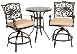 Hanover TRADDN3PCSW-BR Traditions Series 3-Piece High-Dining Bistro ... Bar Outdoor Counter Ashley Gloss Looking Set Patio Sets For Office Cosco Fniture Steel Woven Wicker High Top Bistro Tables Stool Cabinet 4 Seasons Brighton 3 Piece Rattan Pure Haotiangroup Haotian Sling Home Kitchen Hampton Lowes Portable Propane Chair Walmart Room Layout Design Ideas Bay Fenton With Set Of Coffee Table And 2 Matching High Chairs In Portadown Carleton Round Joss Main Posada 3piece Balconyheight With Gray