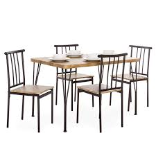 Best Choice Products 5-Piece Metal And Wood Indoor Modern Rectangular  Dining Table Furniture Set For Kitchen, Dining Room, Dinette, Breakfast  Nook W/ ... East West Fniture 5 Piece Hepplewhite Modern Breakfast Nook Ding Table Set 52 Corner And Chairs Kitchen How To Mix Decor Styles A Velvety Update 12 Ways Make A Banquette Work In Your Hgtvs Bremerton 3piece By Coaster At Dunk Bright Glass Top Room Sets 58 White 7 Pc Nook Setbreakfast And 6 53 With Bench Storage Best 25 Ideas For Small Decorate Sunny Designs Bayside With Side Chair