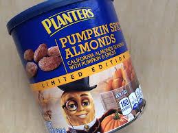 Panera Pumpkin Spice Latte Calories by We Tasted It Planters U0027 Pumpkin Spice Almonds