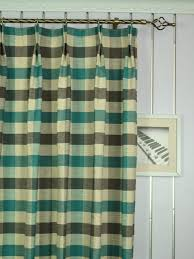 120 Inch Length Blackout Curtains by Hudson Bold Scale Check Double Pinch Pleat Curtain 120 Inch Extra