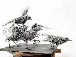 Artist Candice Bees Creates Elegant Animal Sculptures From Bound Wires Capturing Graceful Movements Of Both Winged And Four Legged Creatures