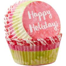 Happy Holidays Standard Christmas Cupcake Liners By Wilton Bakers