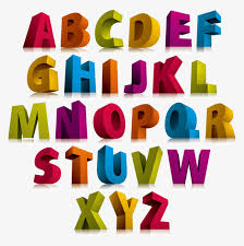 color 3d stereoscopic letter Dimensional Characters 26 English