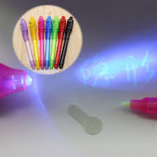 UV Light Pen Invisible Ink Security Marker With Ultra Violet LED