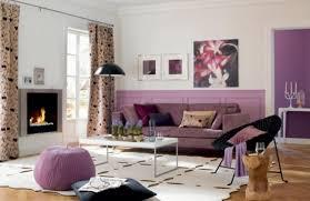 wohnzimmer ideen schwarz lila wohnungseinrichtung ideen