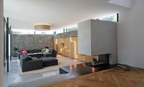wohnzimmer mit reliefwand contemporary family room
