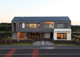 100 House For Sale In Korea Z Lab Uses Volcanic Stone For Jeju Island Holiday Home