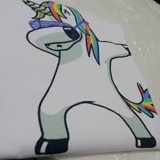 Dabbing Unicorn T Shirt Women Short Sleeve Shirts O Neck