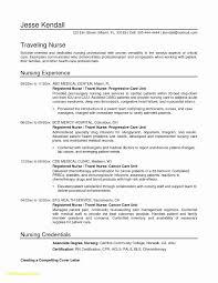Pediatric Nurse Resume Unique Nursing Resume Examples New Graduates