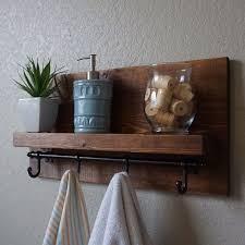 Beautiful Bathroom Shelf With Towel Hooks Pictures Inspiration Regarding Rustic Decorations 8