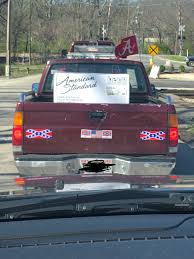 100 Confederate Flag Truck Marie Leech On Twitter This Dude In Front Of Me Has A Bama Flag