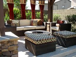 Outdoor Furniture Cushions Sunbrella Fabric by Backyard Pergola Stone Fire Pit And Pillars Marbella Pavers