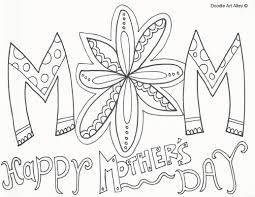 Happy Mothers Day Coloring Pages Doodle Art Alley Free Book