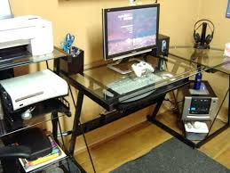 posh staples l shaped desk ideas computer desks regarding with