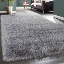 shaggy teppich uni
