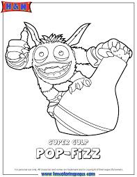Skylanders Swap Force Magic Super Gulp Pop Fizz Coloring Page