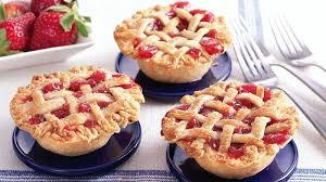 Mini Strawberry Rhubarb Lattice Pies