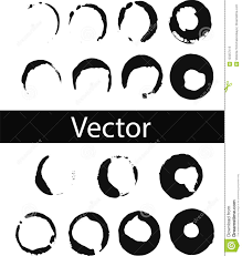 Download Vector Set Of Coffee Ring Stains Black Drink Illustration On Transparent Background Isolated