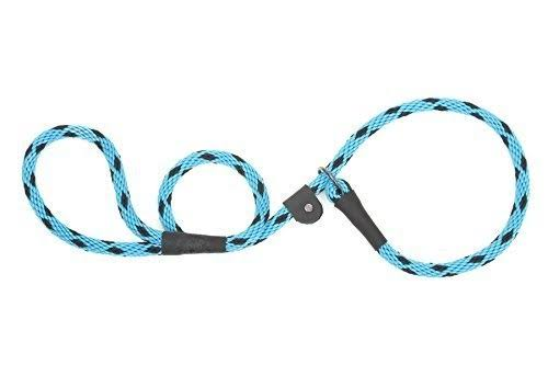"Mendota Products Dog Slip Lead - 3/8"" x 6', Black Ice Turquoise"