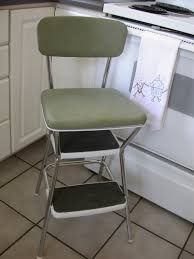 Cosco Retro Chair With Step Stool Black by Kitchen Vintage Cosco Kitchen Step Stool Chair Kitchen Step