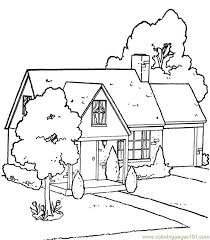 Garden House Coloring Page