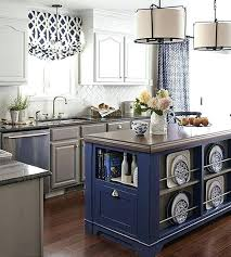 Blue Kitchen Island Cobalt Outfitted With Display Space For Dishware Collection