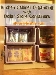 Organized Homemaking Kitchen Cabinet Organizing with Containers