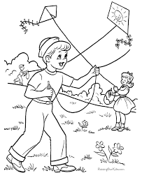 Spring Printables Coloring Pages
