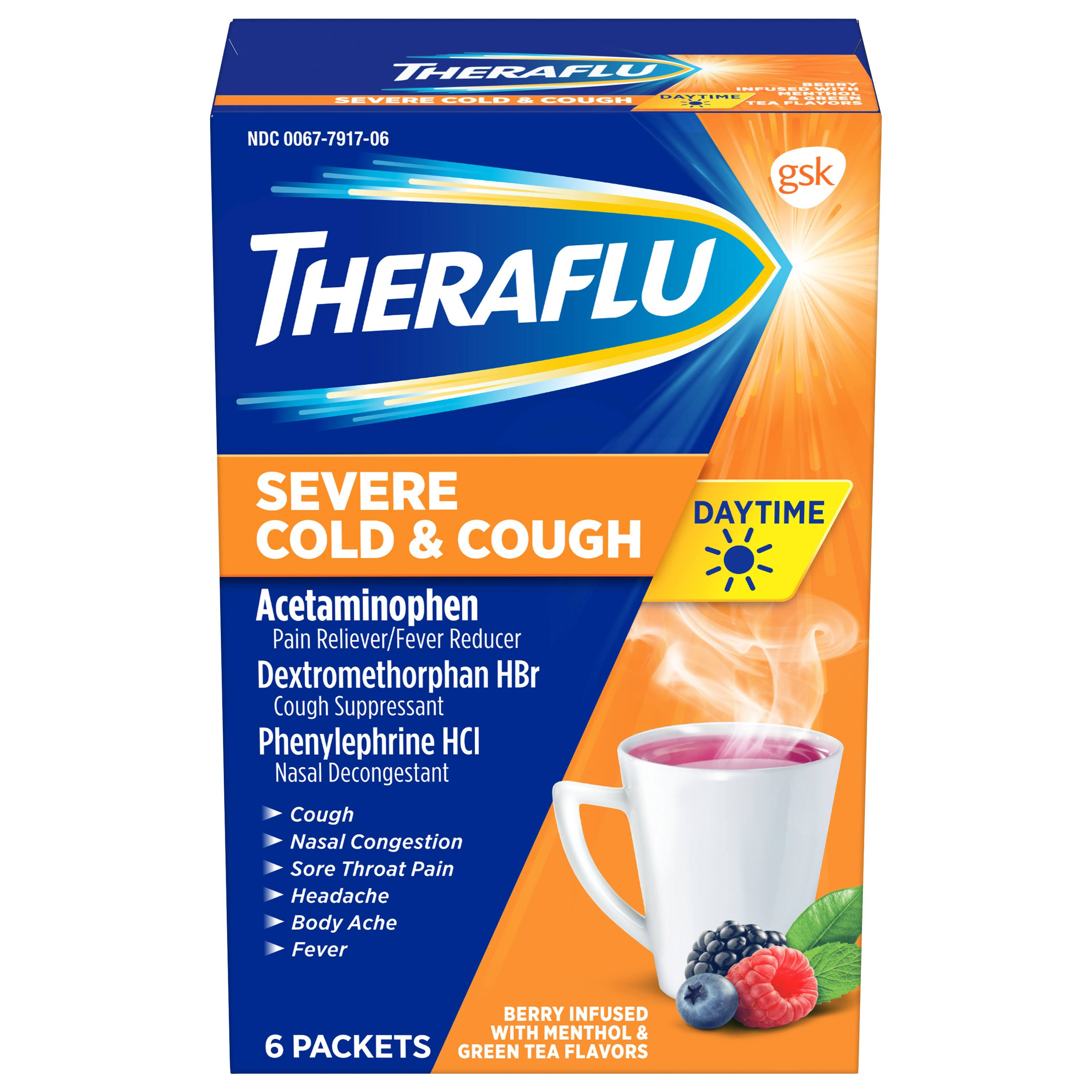 Theraflu Daytime Severe Cold & Cough - 6 Packets