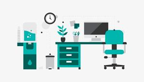 le bureau verte le bureau vert bureau table de bureau vert image png pour le