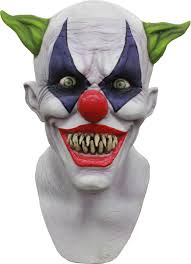 Halloween H20 Mask Uk by Carnival Drifter Clown Halloween Mask Mad About Horror Saw Jigsaw
