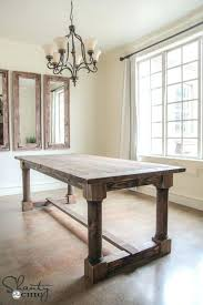 Diy Dining Tables Table With Turned Legs Free Plans And Tutorial At Shanty 2