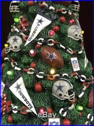 Danbury Mint DALLAS COWBOYS Light Up Resin Christmas Tree NFL
