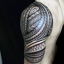 Polynesian Amazing Tribal Tattoos For Men Half Sleeve