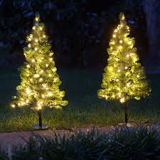 What Could Be Better Than Welcoming Your Guests With Glittering Christmas Trees On The Walkway This Is A Classic Outdoor Light Decoration And Can