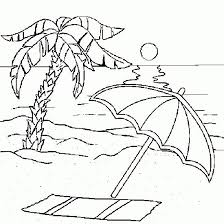 Beach Coloring Pages Sunset Times