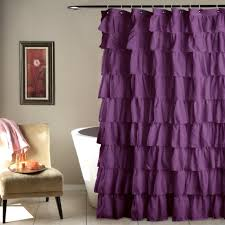 purple ruffle curtains curtains ideas