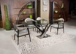 Elite Modern Crystal Dining Table 394REC 60