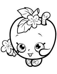Click To See Printable Version Of Apple Blossom Shopkin Coloring Page
