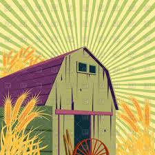 Farm Rural Scene With Barns And Wheat Field Vector Clipart Image ... Farm Animals Living In The Barnhouse Royalty Free Cliparts Stock Horse Designs Classy 60 Red Barn Silhouette Clip Art Inspiration Design Of Cute Clipart Instant Download File Digital With Clipart Suggestions For Barn On Bnyard Vector Farm Library