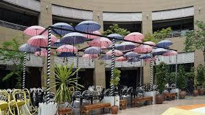 Flower Restaurant Summer Garden Courtyard Singapore Floristry Parasols Outdoor Structure