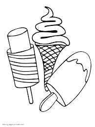 64 ICE CREAM Coloring Pages Throughout Ice Cream Sundae Page