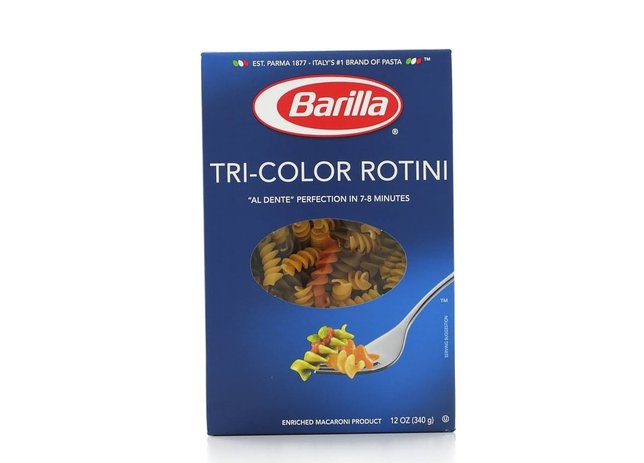 Barilla Tri Color Rotini and Penne - 12oz