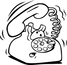 telephone clipart black and white 2